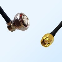 7/16 DIN Male Right Angle - SMA Male Coaxial Jumper Cable