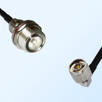 7/16 DIN Bulkhead Female with O-Ring - N Male R/A Coaxial Jumper Cable