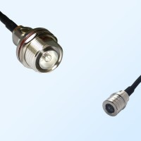 7/16 DIN Bulkhead Female with O-Ring - QMA Male Coaxial Jumper Cable