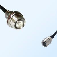 7/16 DIN Bulkhead Female with O-Ring - QMA Male Coaxial Jumper Cable