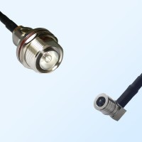 7/16 DIN Bulkhead Female with O-Ring - QMA Male R/A Coaxial Cable