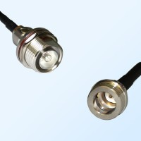 7/16 DIN Bulkhead Female with O-Ring - QN Male Coaxial Jumper Cable