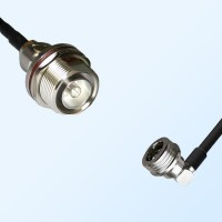 7/16 DIN Bulkhead Female with O-Ring - QN Male R/A Coaxial Cable
