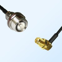 7/16 DIN Bulkhead Female with O-Ring - SMA Bulkhead Female R/A Cable