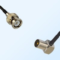 BNC Male - DVB-T TV Male Right Angle Coaxial Cable Assemblies