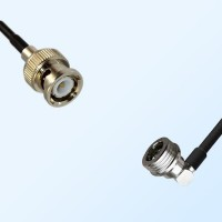 BNC Male - QN Male Right Angle Coaxial Cable Assemblies