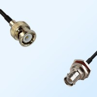 BNC Male - RP BNC Bulkhead Female with O-Ring Coaxial Cable Assemblies