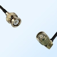 BNC Male - RP TNC Male Right Angle Coaxial Cable Assemblies