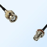 BNC Male - RP TNC Bulkhead Female with O-Ring Coaxial Cable Assemblies