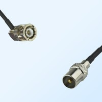BNC Male Right Angle - DVB-T TV Male Coaxial Cable Assemblies