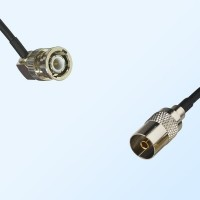 BNC Male Right Angle - DVB-T TV Female Coaxial Cable Assemblies