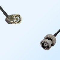 BNC Male Right Angle - RP BNC Male Coaxial Cable Assemblies