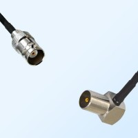 BNC Female - DVB-T TV Male Right Angle Coaxial Cable Assemblies