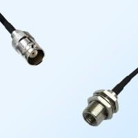 BNC Female - FME Bulkhead Male Coaxial Cable Assemblies