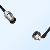 BNC Female - QN Male Right Angle Coaxial Cable Assemblies