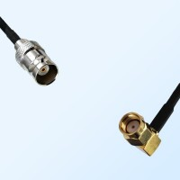 BNC Female - RP SMA Male Right Angle Coaxial Cable Assemblies