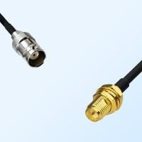 BNC Female - RP SMA Bulkhead Female Coaxial Cable Assemblies