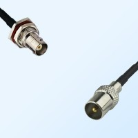 BNC Bulkhead Female with O-Ring - DVB-T TV Male Cable Assemblies