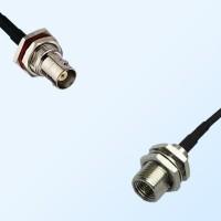 BNC Bulkhead Female with O-Ring - FME Bulkhead Male Cable Assemblies