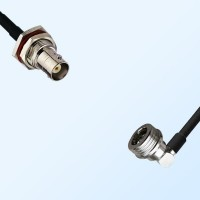 BNC Bulkhead Female with O-Ring - QN Male R/A Coaxial Cable Assemblies