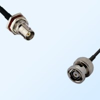 BNC Bulkhead Female with O-Ring - RP BNC Male Coaxial Cable Assemblies