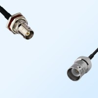 BNC Bulkhead Female with O-Ring - RP BNC Female Cable Assemblies