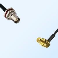 BNC Bulkhead Female - RP SMA Bulkhead Female R/A Cable Assemblies