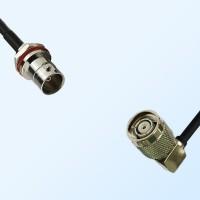 BNC Front Mount Bulkhead Female - RP TNC Male R/A Cable Assemblies