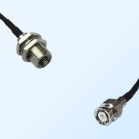 FME Bulkhead Male - Mini BNC Male Coaxial Jumper Cable