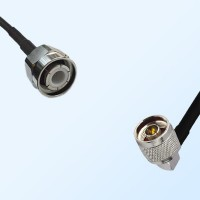 HN Male - N Male Right Angle Coaxial Jumper Cable