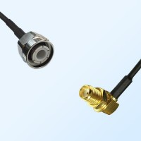 HN Male - SMA Bulkhead Female Right Angle Coaxial Jumper Cable