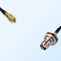 10-32 UNF Male - TNC Bulkhead Female with O-Ring Coaxial Jumper Cable