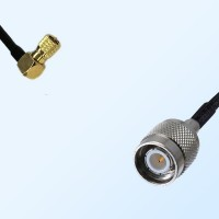 10-32 UNF Male Right Angle - TNC Male Coaxial Jumper Cable