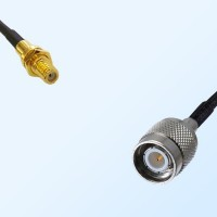 10-32 UNF Bulkhead Female - TNC Male Coaxial Jumper Cable