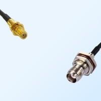 10-32  Bulkhead Female - TNC Bulkhead Female with O-Ring Coaxial Cable