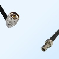 N/Male Right Angle - TS9/Male Coaxial Jumper Cable